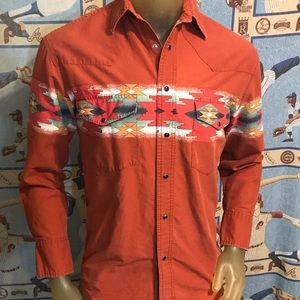 Vintage Rustler by Wrangler Western Shirt Small